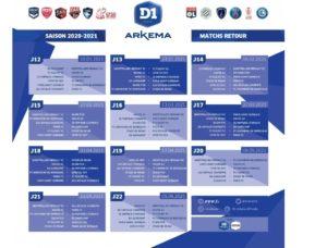 Le calendrier 2020/2021 de la D1 Arkema est connu !   MHSC OnAir