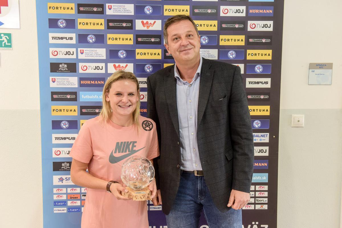 Dominika Škorvánková nommée joueuse slovaque de l'année 2019